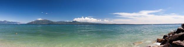 Panoramic view of lake Garda Royalty Free Stock Photos