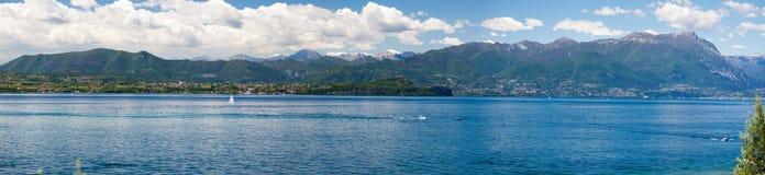 Panoramic view of lake Garda Royalty Free Stock Image