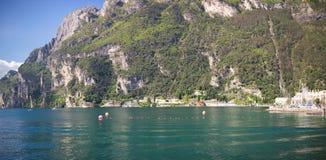 Panoramic view of lake Garda Royalty Free Stock Images