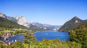 Panoramic view of Lake Grundlsee, Austria. Stock Photo