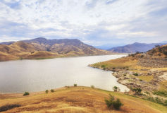 Panoramic view of Lake Kaweah in California, USA Royalty Free Stock Image