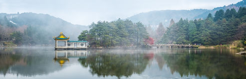 Panoramic view of the lake in lushan Stock Photos