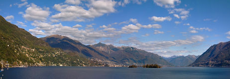 Panoramic view on Lake Maggiore. Stock Photos