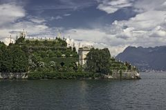 Panoramic view of Lake Maggiore and its islands royalty free stock photo
