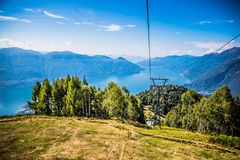 Panoramic view of the Lake Maggiore Royalty Free Stock Images