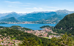 Panoramic view of Lake Maggiore Stock Image