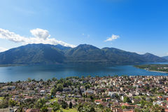 Panoramic view of Lake Maggiore Royalty Free Stock Images