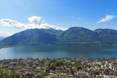 Panoramic view of Lake Maggiore Stock Photos