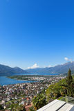 Panoramic view of Lake Maggiore Royalty Free Stock Image