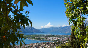 Panoramic view of Lake Maggiore Stock Photography