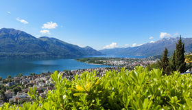 Panoramic view of Lake Maggiore Royalty Free Stock Photography