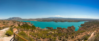 Panoramic view of Lake Negratin in HDR Stock Photography