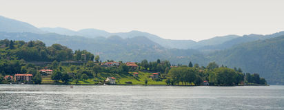 Panoramic view on lake Orta Royalty Free Stock Images