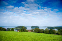 Panoramic View of Lake Plateliai in Zemaitija National Park, Samogitia, Plateliai, Lithuania Royalty Free Stock Photos