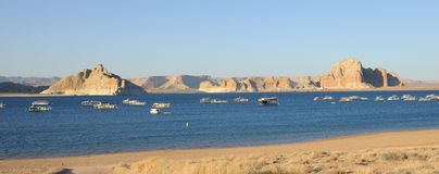 Panoramic View of Lake Powell Royalty Free Stock Images