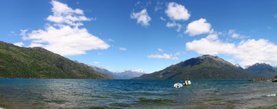 Panoramic view of Lake Puelo Stock Photo
