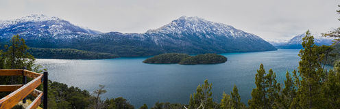 Panoramic view of a lake Stock Photography