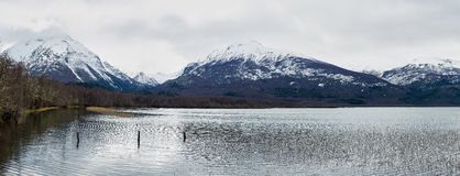 Panoramic view of a lake Stock Images