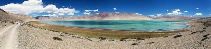 Panoramic view of Lake Tso Kar Royalty Free Stock Photography