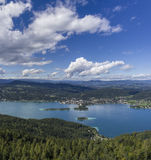 Panoramic View of Lake Worthersee Royalty Free Stock Image