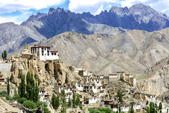 Panoramic view of Lamayuru monastery in Ladakh, India. Stock Photos