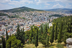 Panoramic view of Lamia City Royalty Free Stock Images