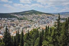 Panoramic view of Lamia City, Central Greece Stock Photos