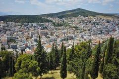 Panoramic view of Lamia City, Greece Stock Photos