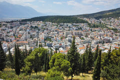 Panoramic view of Lamia City, Greece Royalty Free Stock Images