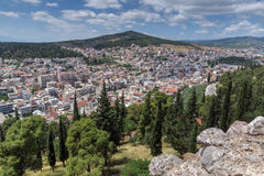 Panoramic view of Lamia City, Greece Stock Photos