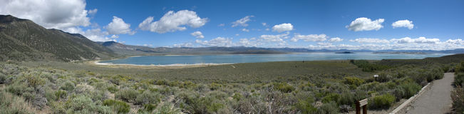 Panoramic view of landscape at Mono Lake, California Stock Photo