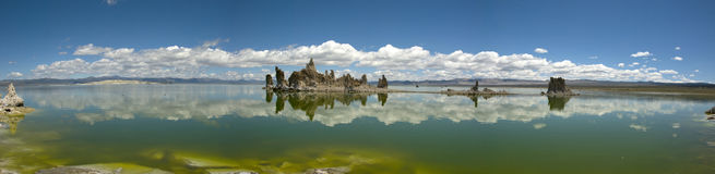 Panoramic view of landscape at Mono Lake, California Stock Image