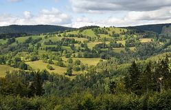 Landscape and mountain Jeseniky, Czech republic, Europe royalty free stock images