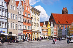 Panoramic view of Landshut center Royalty Free Stock Photos