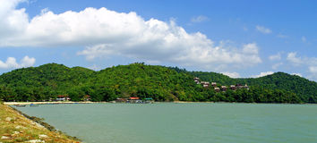 Panoramic view of Langkawi south coast Royalty Free Stock Photography