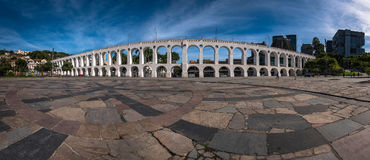 Panoramic View of Lapa Arch. Panoramic View of Carioca Aqueduct, Also Known as Lapa Arch, in Rio de Janeiro City, Brazil Stock Photography