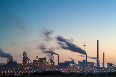 Panoramic view of a large European industry area Royalty Free Stock Image