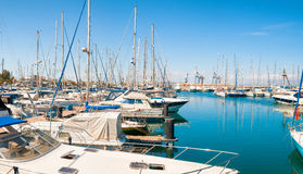 Panoramic view of Larnaca marina. Cyprus Royalty Free Stock Photography