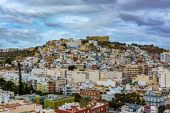 Panoramic view of Las Palmas de Gran Canaria on a beautiful day, view from the Cathedral of Santa Ana Stock Photo