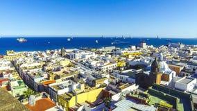 Panoramic view of Las Palmas de Gran Canaria city, Canary Islands, Spain