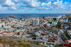 Panoramic view of Las Palmas de Gran Canaria on a cloudy day royalty free stock photography