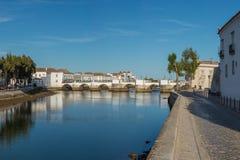 Panoramic view Tavira in Algarve, Portugal, Algarve Royalty Free Stock Photos
