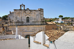 Panoramic view of Laterza. Puglia. Italy. Royalty Free Stock Images