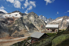 Panoramic view from Lauteraar hut Stock Image