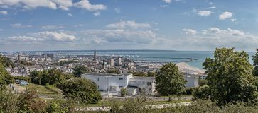 Panoramic View Of Le Havre, France Royalty Free Stock Photography