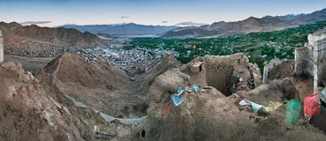 Panoramic view of Leh Stock Image