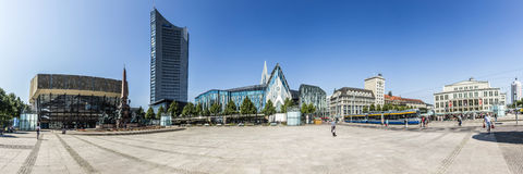 Panoramic view of Leipzig Stock Photography