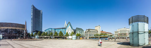 Panoramic view of Leipzig Royalty Free Stock Images