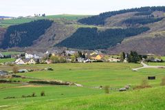 Panoramic view of Lelingen area Stock Images