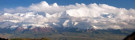 Panoramic view of Lenin Peak Stock Photos